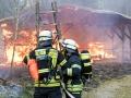 2018 Bürstadt Brand eines Lagergebäudes