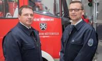 04.04.2019 Lampertheim - Hüttenfeld  JHV der Feuerwehr Hüttenfeld vl. Thorsten Schröder, Sven Gleißner